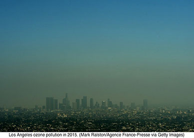 Los Angeles ozone pollution in 2015